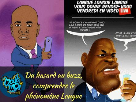 Caricature Longuè Longuè sur Facebook