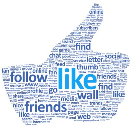 le pouce de Facebook