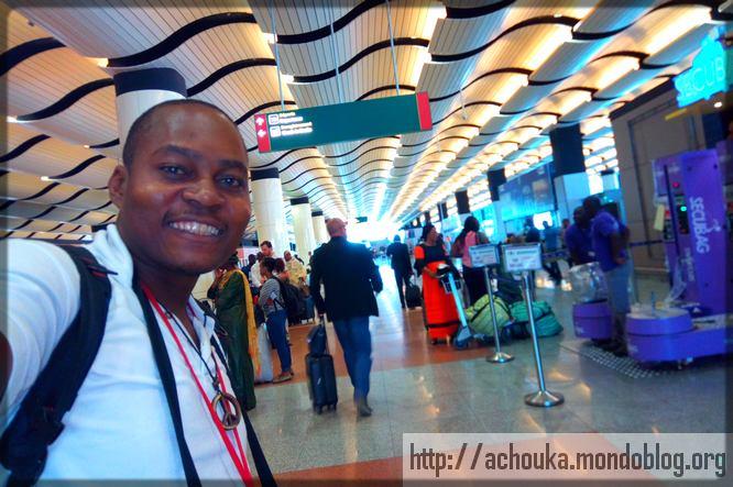 Ecclésiaste Deudjui à l'aéroport Blaise Diagne