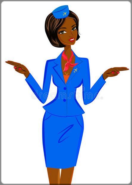 illustration hôtesse de l'air