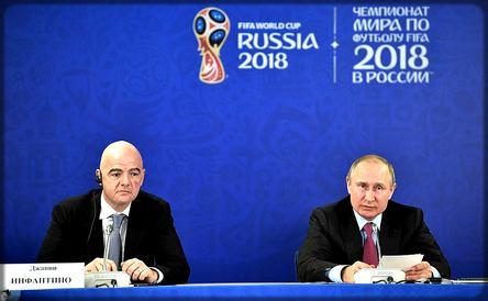 Gianni Infantino et Vladimir Poutine