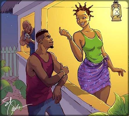 femme en train de rigoler avec un homme