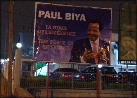 affiche de campagne de Paul Biya