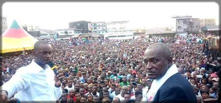 Une foule immense pour Cabral Libii