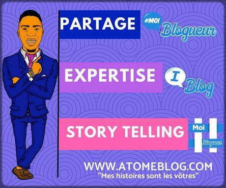 infographie représentant le blogueur Atome