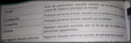 extrait du livre de sciences au Cameroun