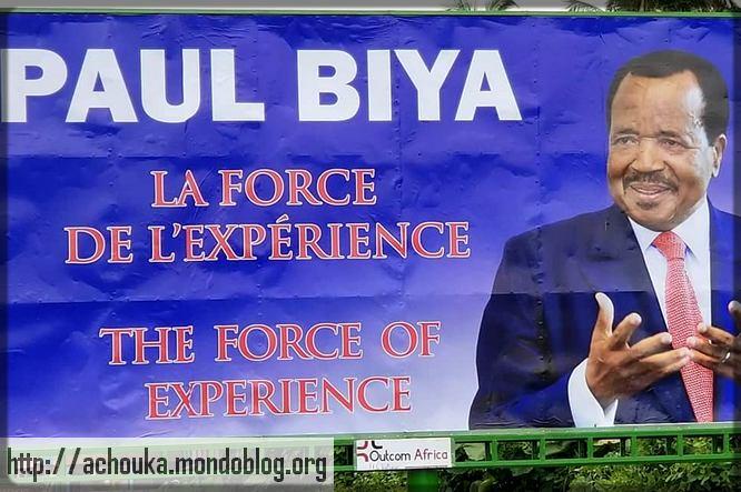 affiche de campagne électorale de Paul Biya