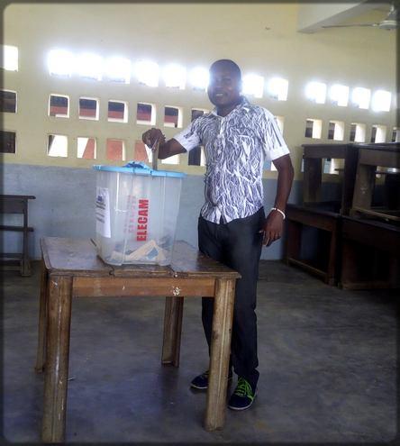 Ecclésiaste Deudjui vote