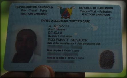 carte d'électeur Ecclésiaste Deudjui
