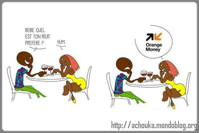 dessin rendez-vous Orange money