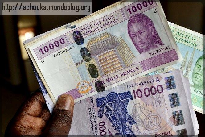 billets de banque franc CFA