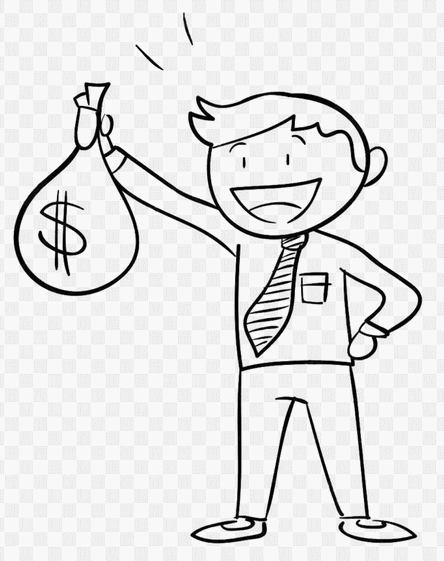 dessin homme riche