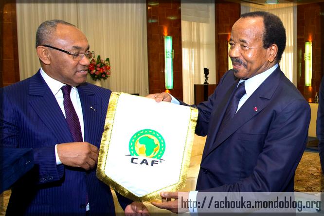 Ahmad Ahmad et Paul Biya