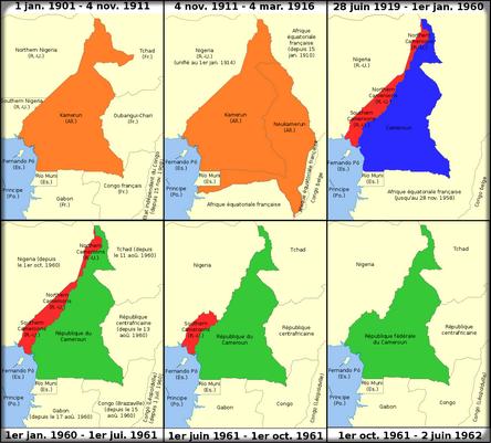 Histoire de la carte du Cameroun