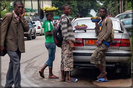 jeunes commerçants camerounais