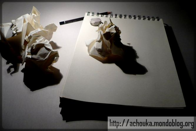 papier froissé et crise de la page blanche
