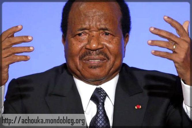 Paul Biya en plein discours