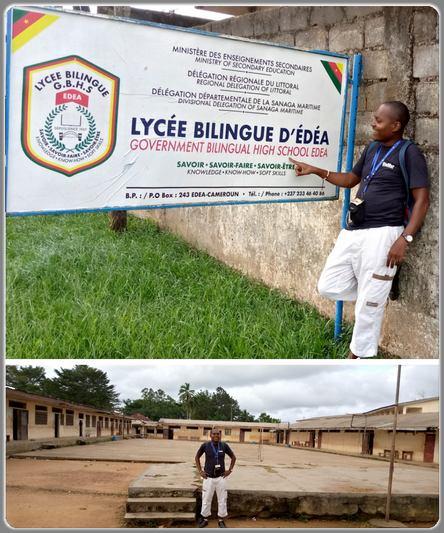 Ecclésiaste Deudjui au lycée bilingue d'Edéa