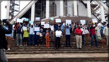 protestation contre l'arrestation de Maurice Kamto