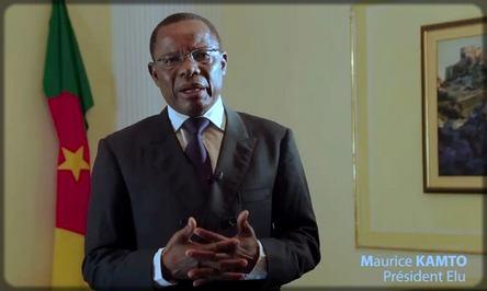 Maurice Kamto s'adressant à la nation camerounaise