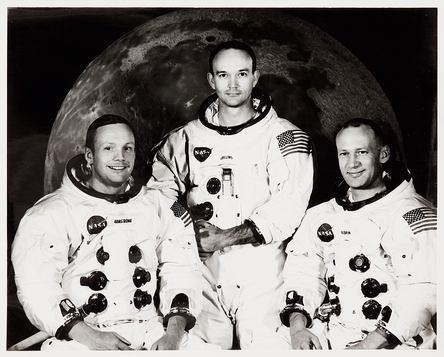 Neil Armstrong, Michael Collins et Buzz Aldrin sont allés sur la Lune