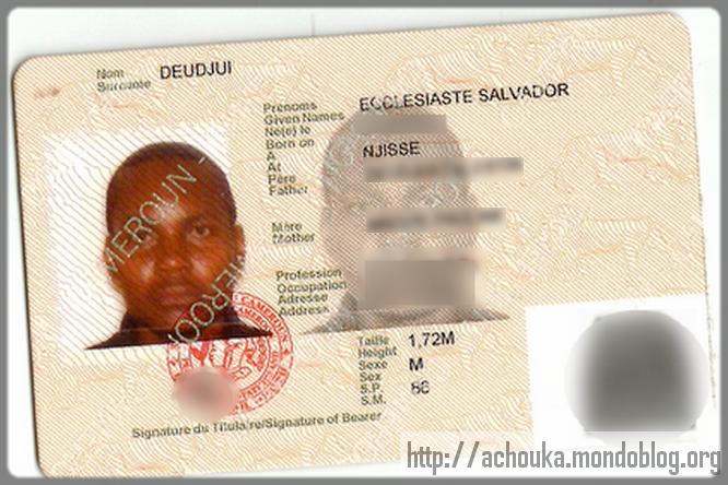 carte d'identité au Cameroun