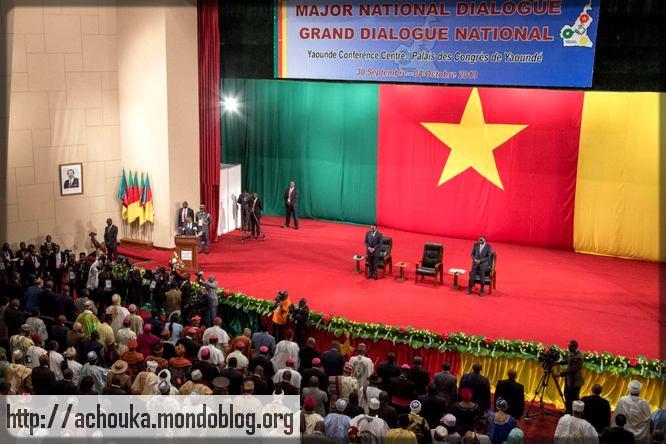Discours de Joseph Dion Nguté lors du grand Dialogue national