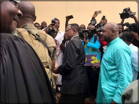 Maurice Kamto lors de sa libération