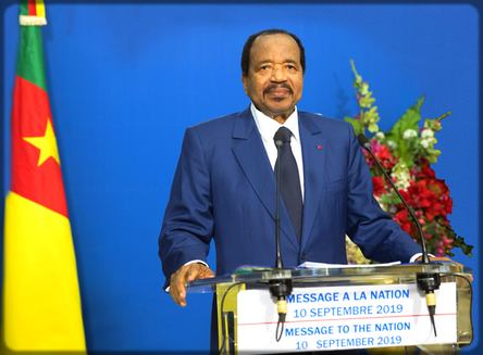 Paul Biya le 10 septembre 2019
