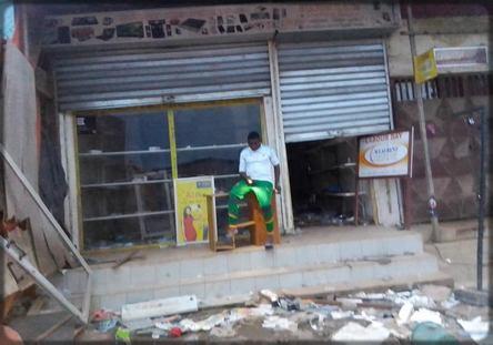 boutique vandalisée à Sangmélima