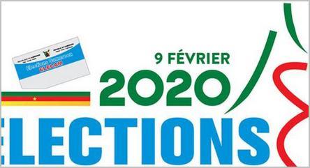 Affiche Elecam élections février 2020