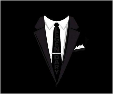 homme invisible en costume noir