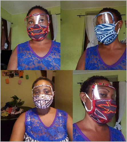 les masques avec visière de Ange Goufack