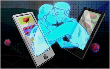 l'amour à travers le téléphone