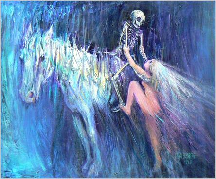 La jeune fille et la mort, peinture de Henri Eisenberg