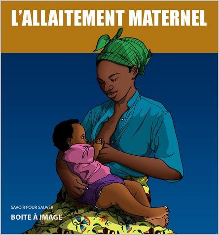 Infographie d'une femme qui allaite son bébé
