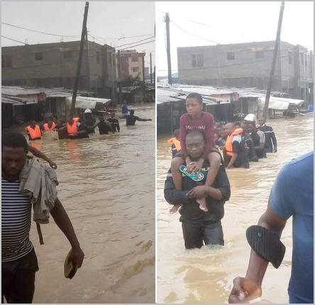 sauvetage dans les inondations