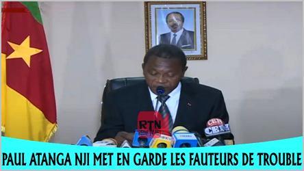Paul Atanga Nji en conférence de presse