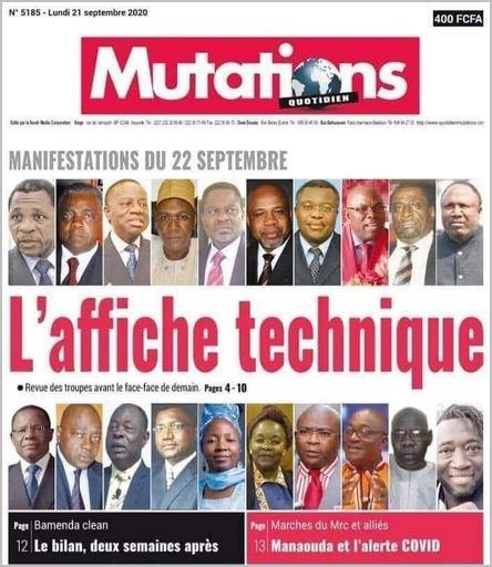 journal MUTATIONS du 21 septembre 2020