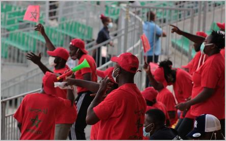 Supporters camerounais du Maroc au CHAN 2021