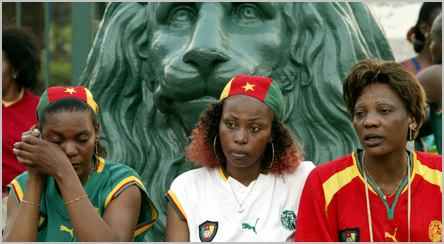 Trois supportrices du Cameroun